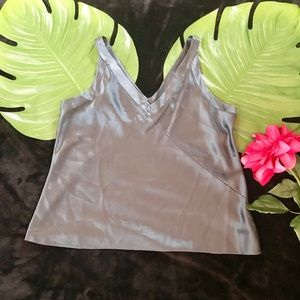 💯 silk Large EILEEN FISHER camisole. Blue gray